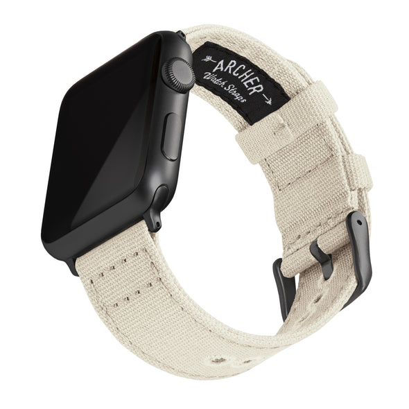 Apple Watch Canvas - Alabaster/Space Gray, ARC-AWC2-ALBG42, ARC-AWC2-ALBG38