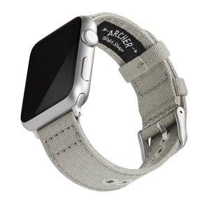Apple Watch Canvas - Ash Gray/Silver Aluminum, ARC-AWC2-LGYS42, ARC-AWC2-LGYS38