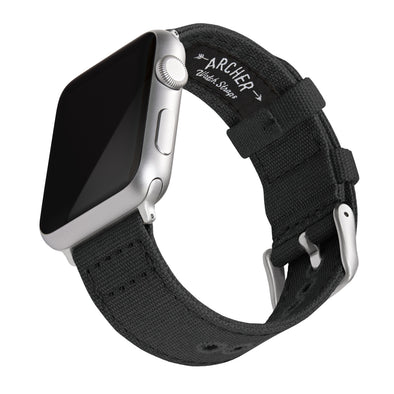 Apple Watch Canvas - Black/Silver Aluminum, ARC-AWC2-BLKS42, ARC-AWC2-BLKS38