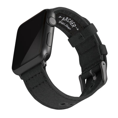 Apple Watch Canvas - Black/Space Gray, ARC-AWC2-BLKG42, ARC-AWC2-BLKG38