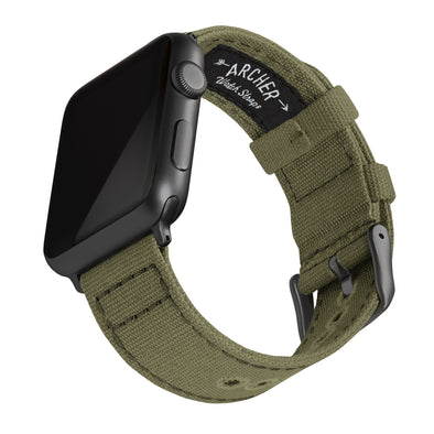 Apple Watch Canvas - Faded Olive/Space Gray, ARC-AWC2-OLVG42, ARC-AWC2-OLVG38