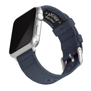 Apple Watch Canvas - Navy Blue/Silver Aluminum, ARC-AWC2-NVYS42, ARC-AWC2-NVYS38