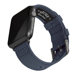 Apple Watch Canvas - Navy Blue/Space Gray, ARC-AWC2-NVYG42, ARC-AWC2-NVYG38