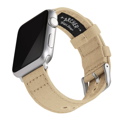 Apple Watch Canvas - Sand/Silver Aluminum, ARC-AWC2-SNDS42, ARC-AWC2-SNDS38