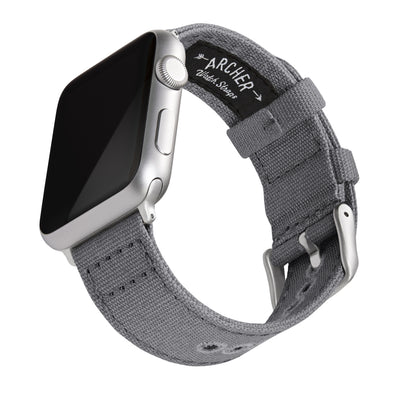 Apple Watch Canvas - Slate Gray/Silver Aluminum, ARC-AWC2-GRYS42, ARC-AWC2-GRYS38