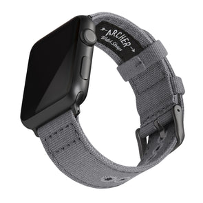 Apple Watch Canvas - Slate Gray/Space Gray, ARC-AWC2-GRYG42, ARC-AWC2-GRYG38