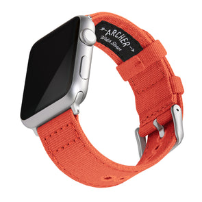 Apple Watch Canvas - Tangelo Orange/Silver Aluminum, ARC-AWC2-ORGS42, ARC-AWC2-ORGS38