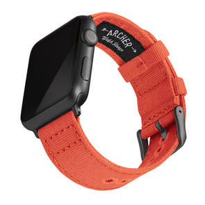 Apple Watch Canvas - Tangelo Orange/Space Gray, ARC-AWC2-ORGG42, ARC-AWC2-ORGG38