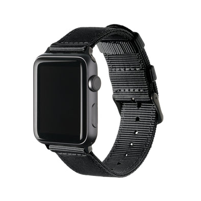Apple Watch Nylon - Black/Black, ARC-AWNYL-BLKB42, ARC-AWNYL-BLKB38