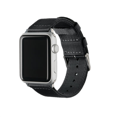Apple Watch Nylon - Black/Stainless, ARC-AWNYL-BLKS42, ARC-AWNYL-BLKS38
