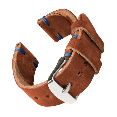 Quick Release Horween Leather - English Tan/Blue, ARC-QRL2-TANBLU22, ARC-QRL2-TANBLU20, ARC-QRL2-TANBLU18