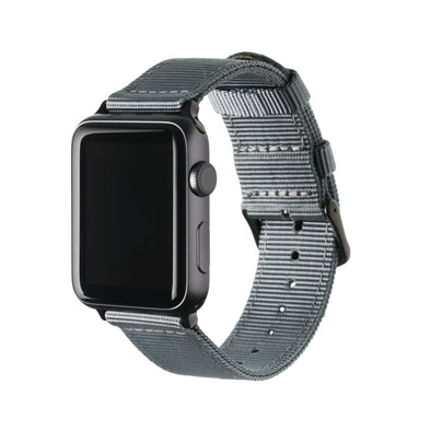 Apple Watch Nylon - Gray/Black, ARC-AWNYL-GRYB42, ARC-AWNYL-GRYB38