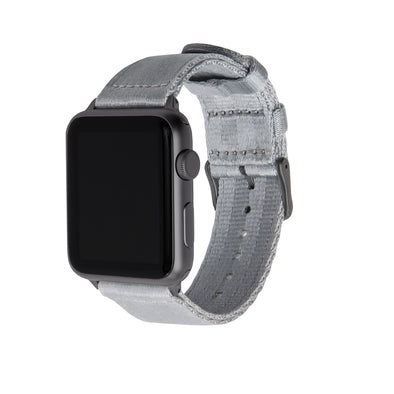 Apple Watch Seat Belt Nylon - Gray/Gray, ARC-AWSB-GRYG42, ARC-AWSB-GRYG38