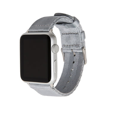 Apple Watch Seat Belt Nylon - Gray/Stainless, ARC-AWSB-GRYS42, ARC-AWSB-GRYS38