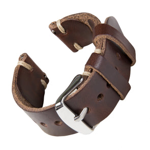 Quick Release Horween Leather - Havana Brown/Natural, ARC-QRL2-BRNNAT22, ARC-QRL2-BRNNAT20, ARC-QRL2-BRNNAT18
