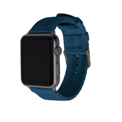 Apple Watch Seat Belt Nylon - Navy/Gray, ARC-AWSB-NVYG42, ARC-AWSB-NVYG38