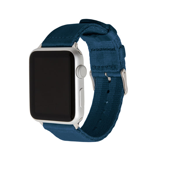 Apple Watch Seat Belt Nylon - Navy/Stainless, ARC-AWSB-NVYS42, ARC-AWSB-NVYS38