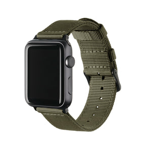 Apple Watch Nylon - Olive/Black, ARC-AWNYL-OLVB42, ARC-AWNYL-OLVB38