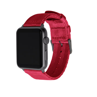 Apple Watch Seat Belt Nylon - Red/Gray, ARC-AWSB-REDG42, ARC-AWSB-REDG38