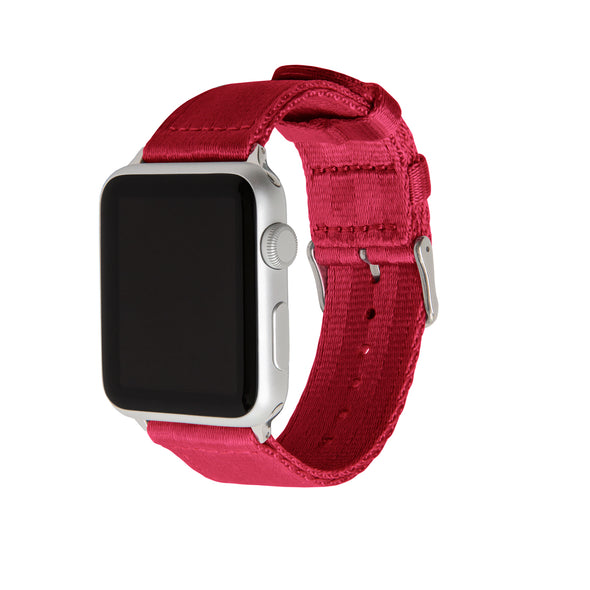 Apple Watch Seat Belt Nylon - Red/Stainless, ARC-AWSB-REDS42, ARC-AWSB-REDS38