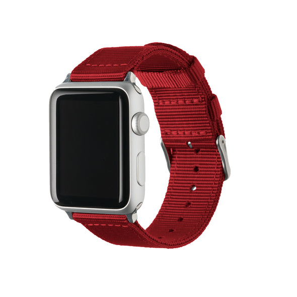 Apple Watch Nylon - Red/Stainless, ARC-AWNYL-REDS42, ARC-AWNYL-REDS38
