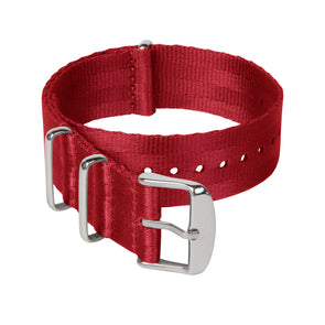 Seat Belt NATO - Red, Stainless Hardware, ARC-SBNATO-RED22, ARC-SBNATO-RED20, ARC-SBNATO-RED18