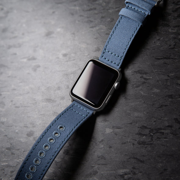Apple Watch Canvas - Classic Denim Blue/Silver Aluminum, ARC-AWC2-BLUS42, ARC-AWC2-BLUS38