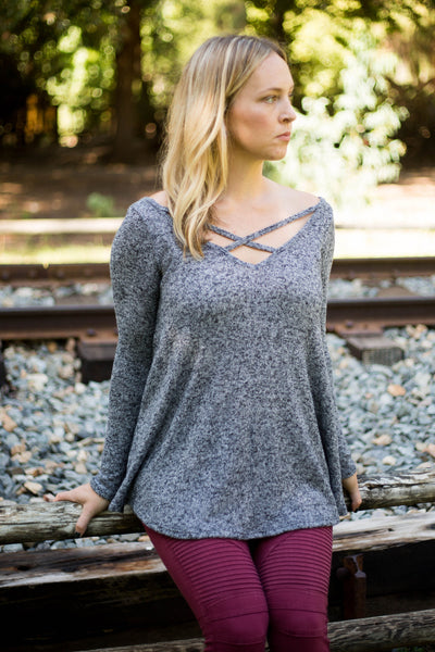 Ashley Cross Neck Sweater