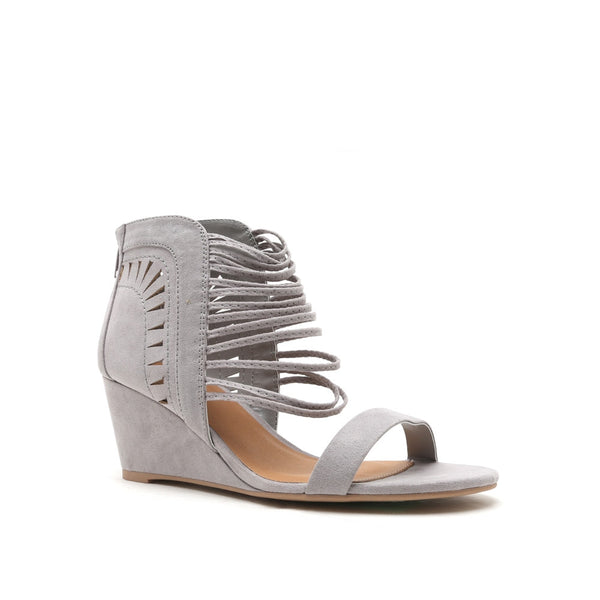 Ankle Detail Wedge Gray