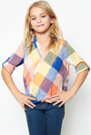Plaid Rainbow Top