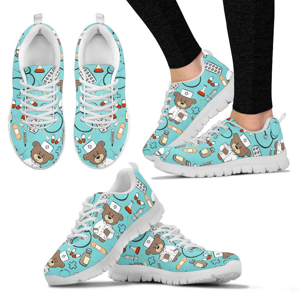 e69040ef878c1 NURSE DOODLE SNEAKERS - FREE SHIPPING WORLDWIDE – Sock and Shoe