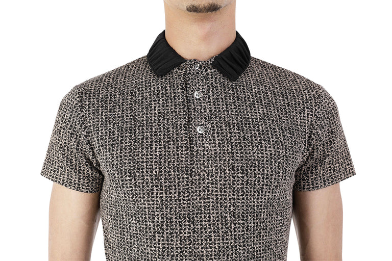 Halo Brown Jacquard Short Sleeve Polo