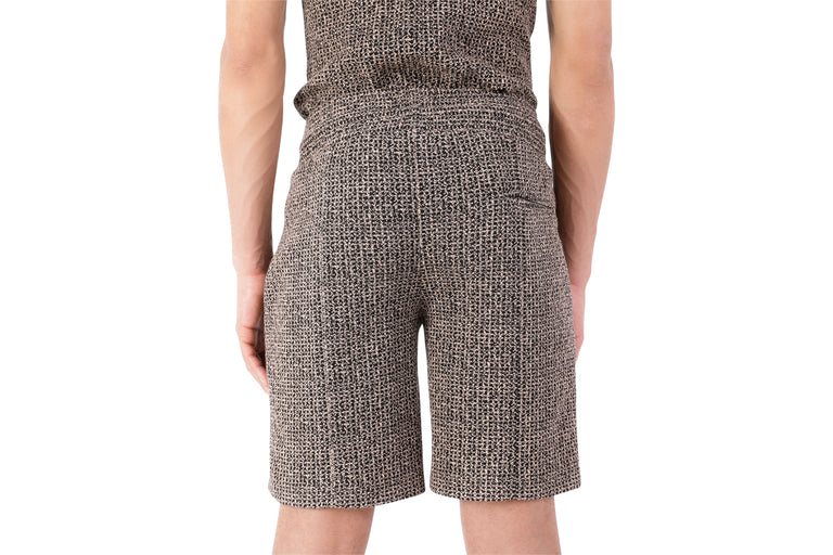 Halo Brown Jacquard Shorts