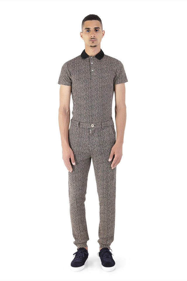 Halo Brown Jacquard Tailored Trousers