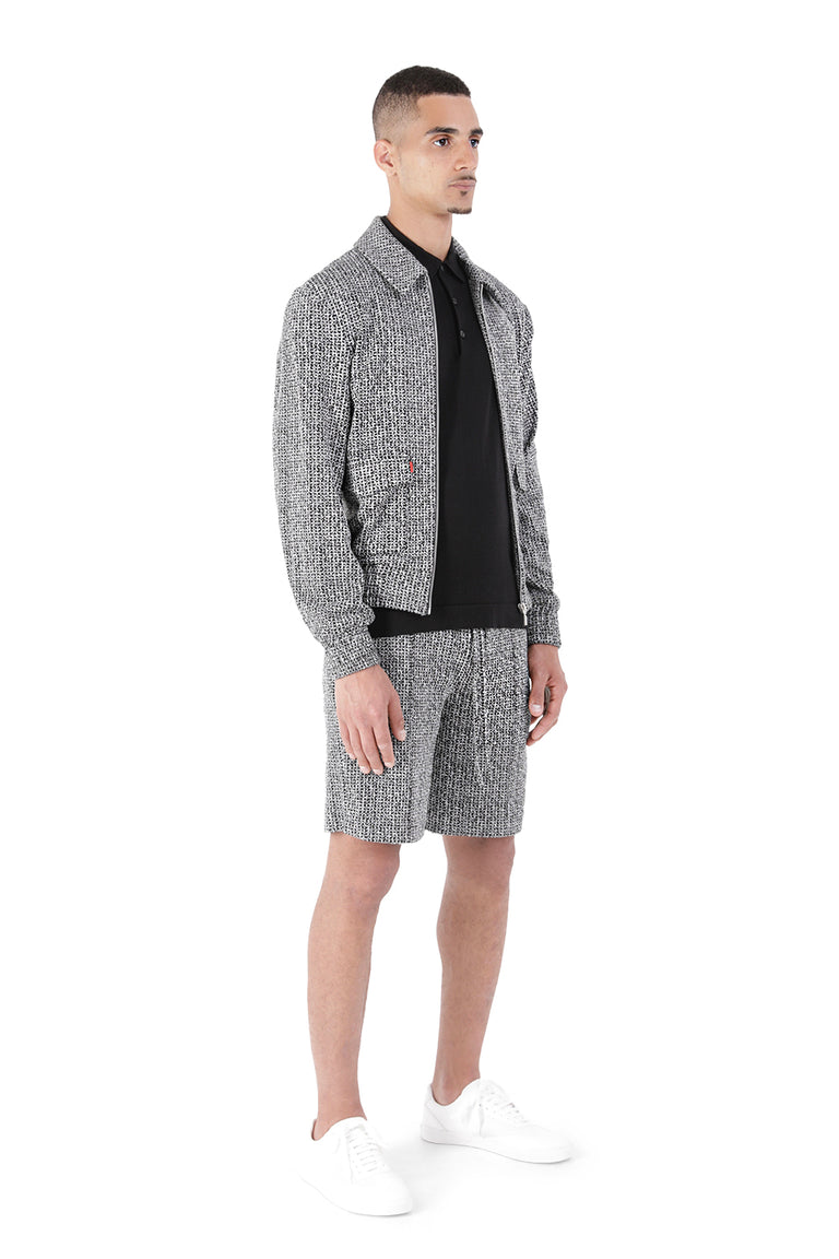 Wishmore Black & White Jacquard Jacket