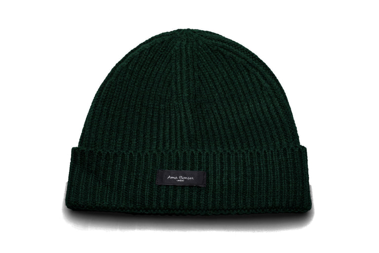 Moax Ribbed Knit Beanie - Bottle Green