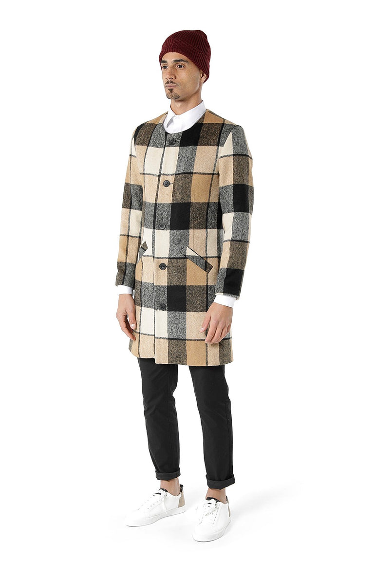 Brookmarsh Slimline Overcoat - Check