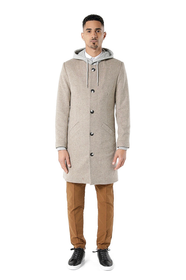 Brookmarsh Slimline Overcoat - Taupe