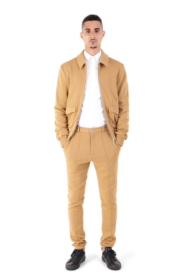 Nonac Camel Tailored Trousers