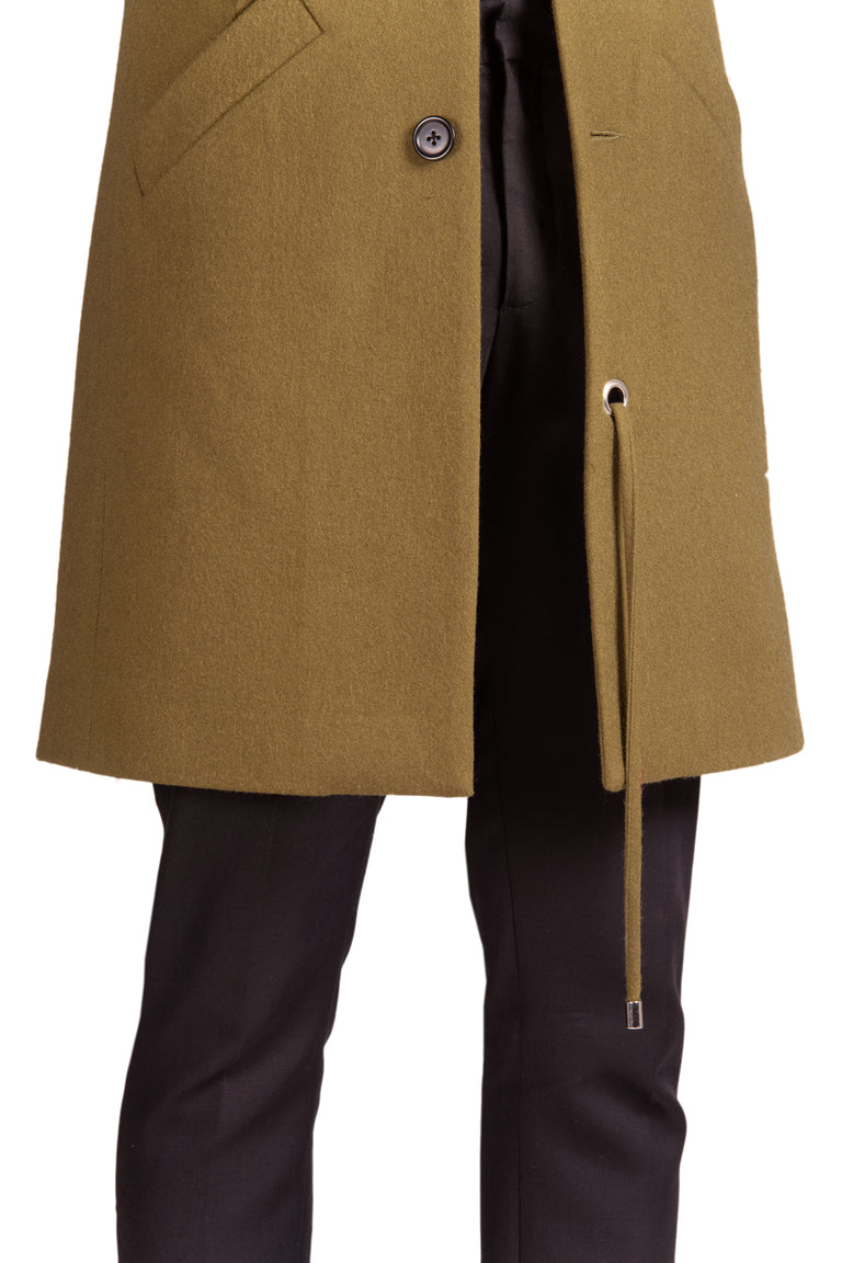 Flinte Slimline Collarless Overcoat