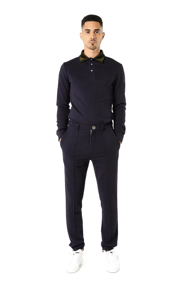 Nafri Tailored Trousers - Navy