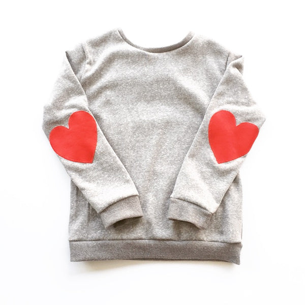 Heart Patch Pullover