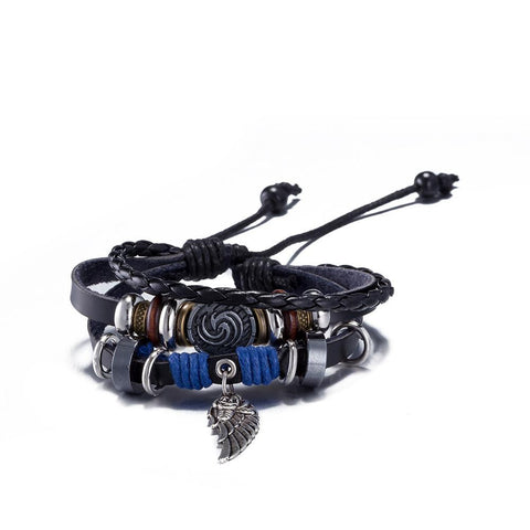 Angle Wing Design Leather Cute Infinity Charm Bracelet