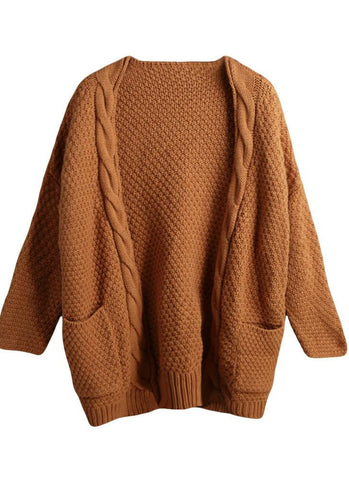 Thick Twist Knitwear Loose Sweater