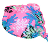 Bikini Set Floral Print Halterneck Scrunch Bottom Beach Swimwear