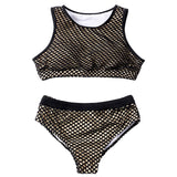 Bikini Set Plus Size Mesh Splice Padded Bathing Suit Swimwear