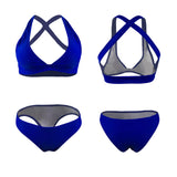 Bikini Set Swimwear Swimsuit Cross Back Padded Brief Beachwear