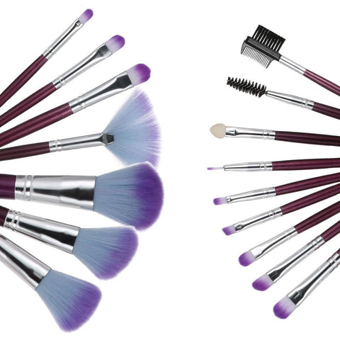 16PCS Professional Goat Hair Makeup Brushes Kit