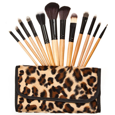 12PCS All-round Makeup Brush Set with Folding Case