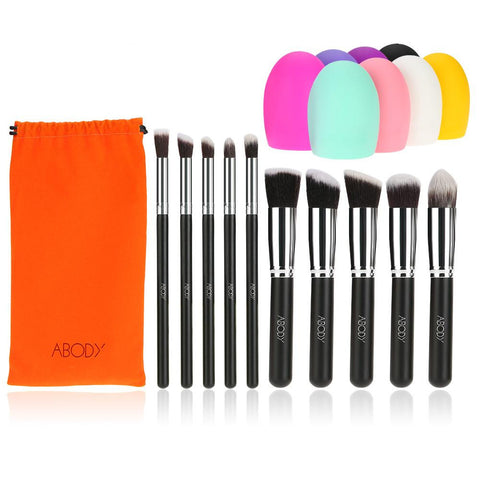 ABODY 10Pcs Makeup Brush Set